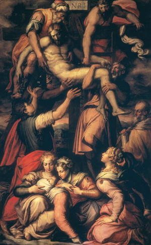 Reproduction oil paintings - Giorgio Vasari - The Deposition of Christ, c.1550