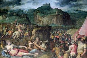 Reproduction oil paintings - Giorgio Vasari - The Siege of San Leo