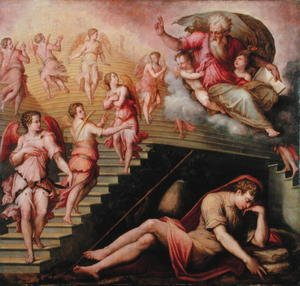 Reproduction oil paintings - Giorgio Vasari - Jacob's Dream, 1558