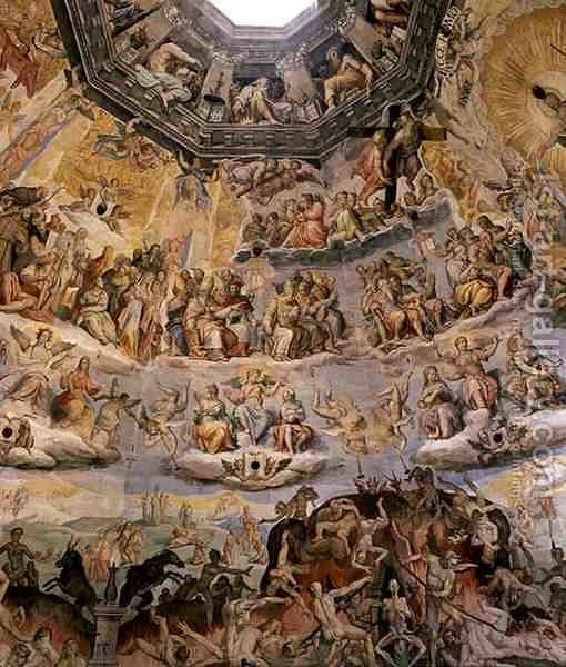 Huge version of The Last Judgement, detail from the cupola of the Duomo, 1572-79 3