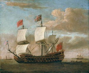 Famous paintings of Ships & Boats: The British ManoWar