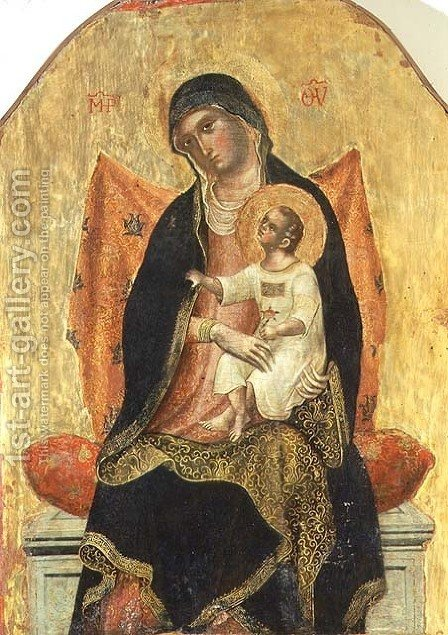 Paolo Veneziano: Madonna and Child - reproduction oil painting
