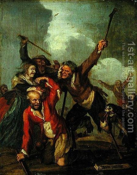 Misery by Adriaen Pietersz. Van De Venne - Reproduction Oil Painting