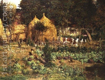 Jardin Potager by Isidore Verheyden - Reproduction Oil Painting
