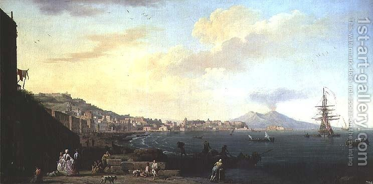 Huge version of View of Naples with Vesuvius in the Background