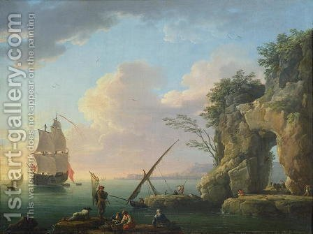 Claude-joseph Vernet: Seascape, 1748 - reproduction oil painting