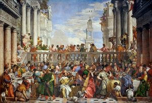 Famous paintings of Christianity: The Marriage Feast at Cana, c.1562