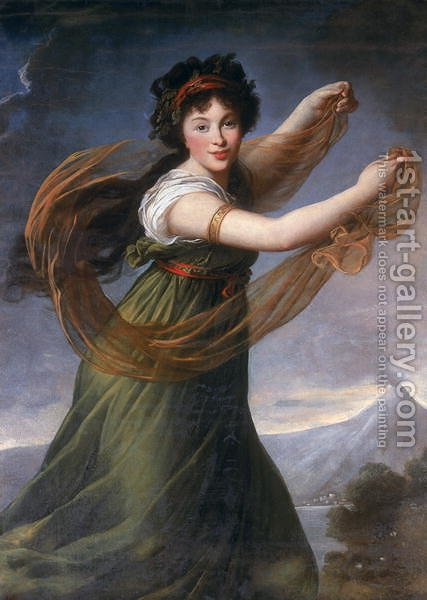 Elisabeth Vigee-Lebrun: Portrait of Pelagia Sapiezyna, 1794 - reproduction oil painting