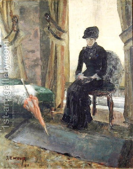 James Ensor: The Sombre Woman, 1881 - reproduction oil painting