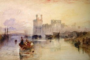 Reproduction oil paintings - Turner - View of Carnarvon Castle