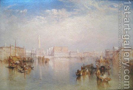 View of Venice: The Ducal Palace, Dogana and Part of San Giorgio, 1841 by Turner - Reproduction Oil Painting