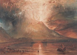 Famous paintings of Clouds & Skyscapes: Mount Vesuvius in Eruption, 1817