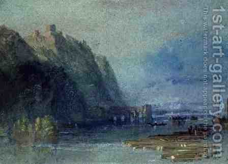 Turner: Chateau Hamelin, c.1830 - reproduction oil painting