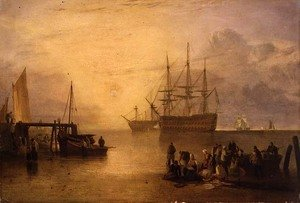 Romanticism painting reproductions: The Sun Rising through Vapour, c.1809