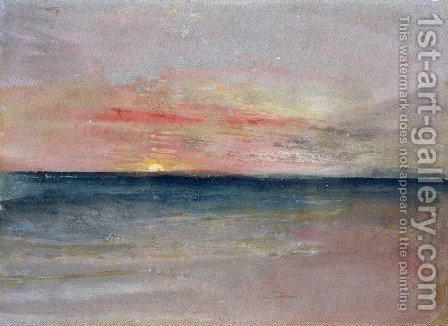 Turner: Sunset - reproduction oil painting
