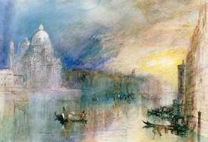 Reproduction oil paintings - Turner - Venice Grand Canal with Santa Maria della Salute