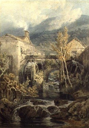 Romanticism painting reproductions: The Old Mill, Ambleside