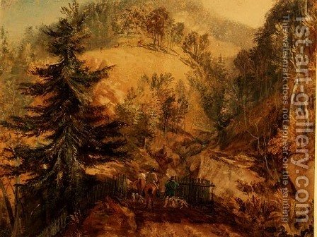 The Chevin, Otley, c.1818 by Turner - Reproduction Oil Painting