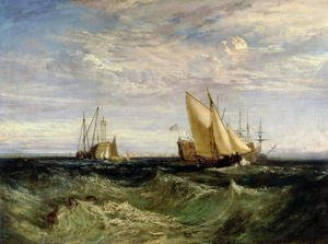 Romanticism painting reproductions: A Windy Day