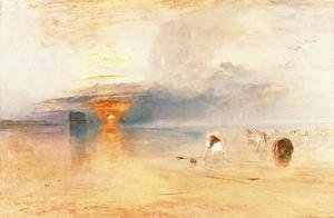 Reproduction oil paintings - Turner - Calais Sands at Low Water, Poissards Gathering Bait, 1830