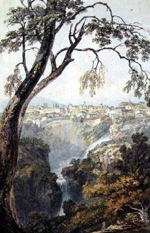 Reproduction oil paintings - Turner - Falls of the Anio