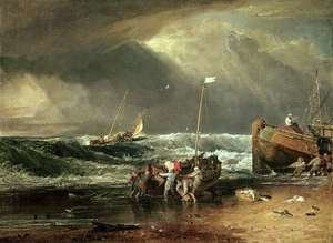 Reproduction oil paintings - Turner - The Iveagh Seapiece, or Coast Scene of Fisherman Hauling a Boat Ashore
