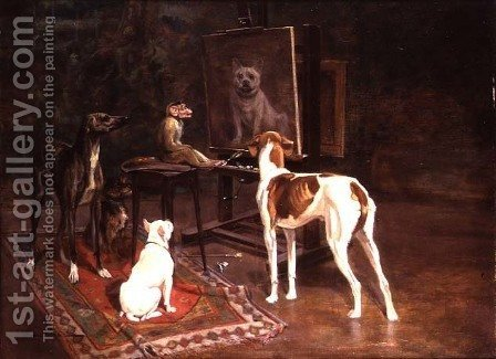 The Critics by A. Vimar - Reproduction Oil Painting