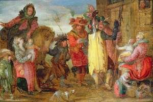 Reproduction oil paintings - David Vinckboons - Jeanne de Flandres 1472-1545-9 going to deliver prisoners
