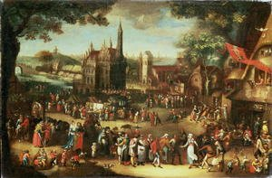 Reproduction oil paintings - David Vinckboons - Kermesse at Avdenarde