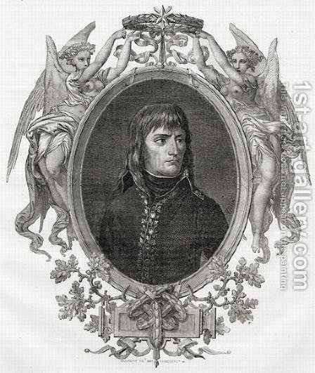 Portrait of Napoleon Bonaparte 1769-1821 engraved by Stephane Pannemaker 1847-1930 by (after) Viollat, Eugene Joseph - Reproduction Oil Painting