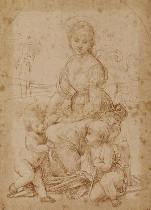 Timoteo Viti reproductions - The Virgin with the Infant Christ and St. John the Baptist, after Raphael