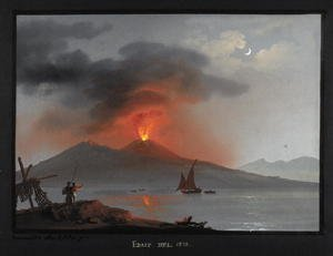 Famous paintings of Volcanoes: Vesuvius, eruption of 1828