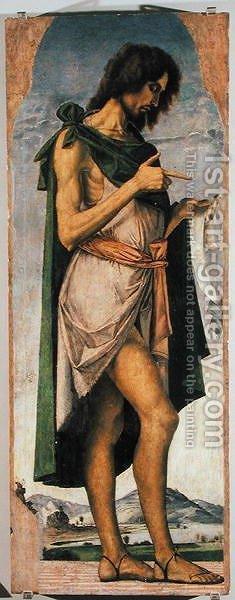 St. John the Baptist by Alvise Vivarini - Reproduction Oil Painting