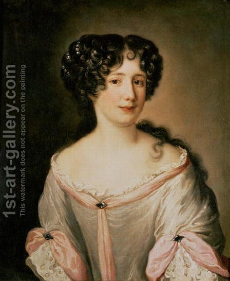 Portrait of a lady thought to be Madame Hortensia by Jacob Ferdinand Voet - Reproduction Oil Painting