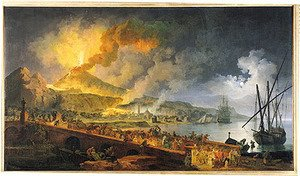 Reproduction oil paintings - Pierre-Jacques Volaire - Eruption of Vesuvius in 1771, 1779