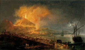 Reproduction oil paintings - Pierre-Jacques Volaire - Eruption of Vesuvius in 1771