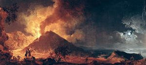 Reproduction oil paintings - Pierre-Jacques Volaire - The Eruption of Mount Vesuvius in 1771