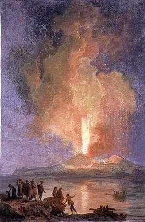 Reproduction oil paintings - Pierre-Jacques Volaire - The Eruption of Vesuvius 2