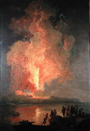 Reproduction oil paintings - Pierre-Jacques Volaire - Mount Vesuvius Erupting