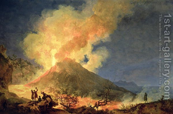 Huge version of Vesuvius Erupting