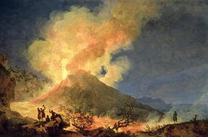 Reproduction oil paintings - Pierre-Jacques Volaire - Vesuvius Erupting