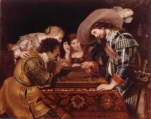 Famous paintings of Other: The Game of Backgammon