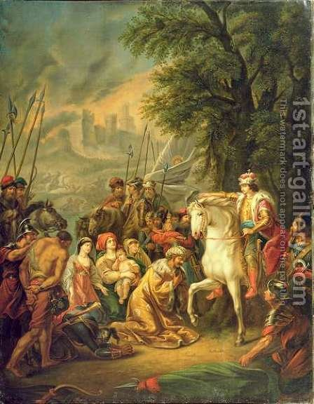 Tsar Ivan IV 1530-84 Conquering Kazan in 1552, 1800s by Grigoriy Ivanovich Ugryumov - Reproduction Oil Painting