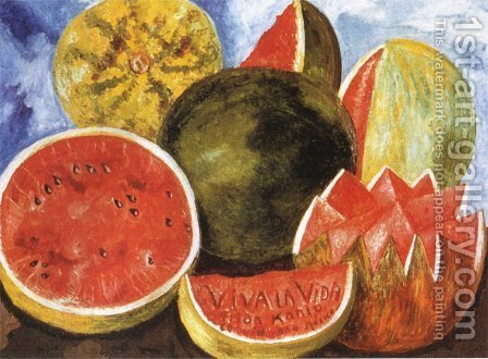 Frida Kahlo: Viva la Vida, 1954 - reproduction oil painting
