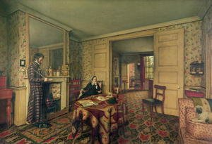Neo-Classical painting reproductions: A Chelsea Interior, 1857