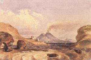 Famous paintings of Volcanoes: A Vezuv Capri szigeterol, 1835