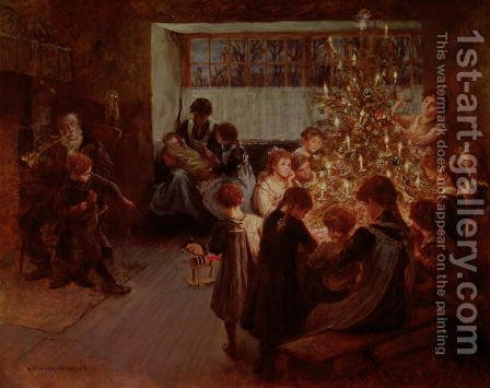 The Christmas Tree, 1911 by Albert Chevallier Tayler - Reproduction Oil Painting
