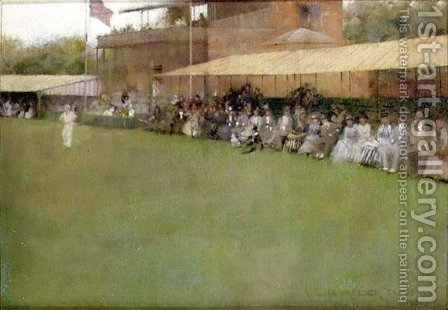 Eton v. Harrow at Lords, 1886 by Albert Chevallier Tayler - Reproduction Oil Painting
