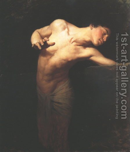 Narcissus, 1881 by Gyula Benczur - Reproduction Oil Painting