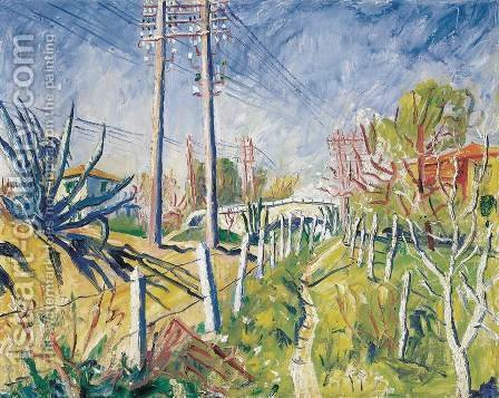 Telefonpoznak, 1932 by Andor Basch - Reproduction Oil Painting